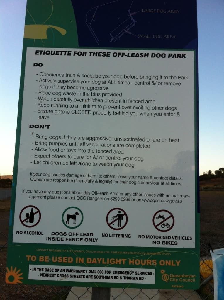Dog Parks Canberra